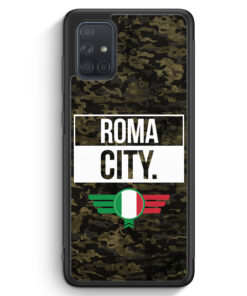 Samsung Galaxy A71 Silikon Hülle - Roma City Camouflage Italien