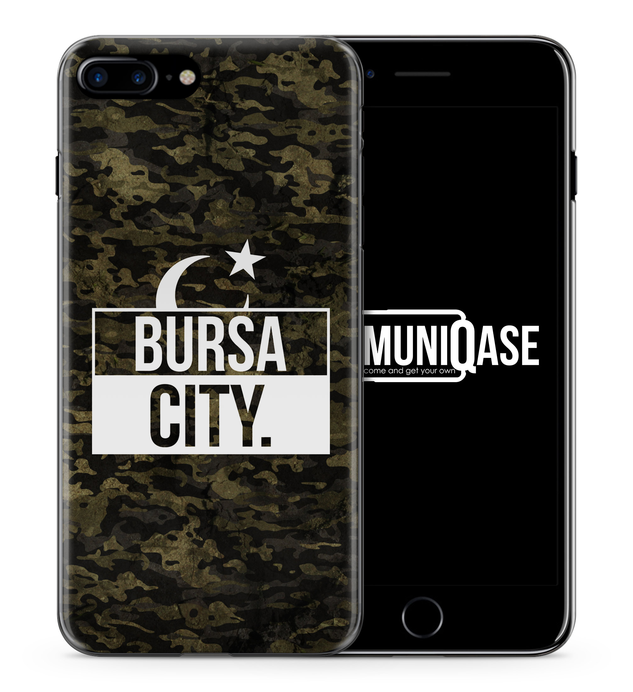 Bursa City Camouflage - Slim Handyhülle für iPhone 7 Plus