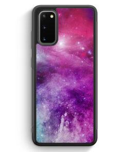 Samsung Galaxy S20 Silikon Hülle - Galaxy Universe Nebula Lila