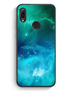 Huawei Y6s Silikon Hülle - Galaxy Universe Nebula Blau-Grün