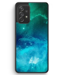 Galaxy Universe Nebula Blau-Grün - Silikon Hülle für Samsung Galaxy A32