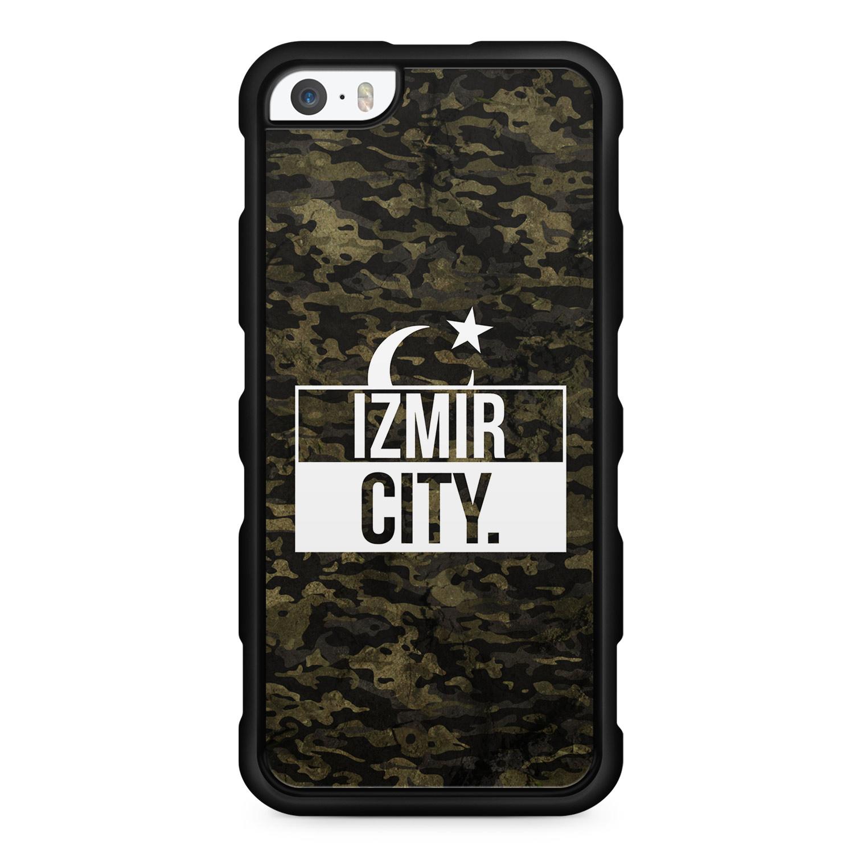 Izmir City Camouflage - Silikon Handyhülle für iPhone SE