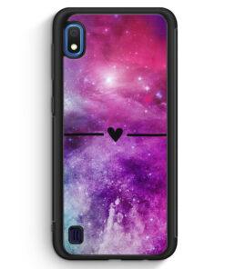 Samsung Galaxy A10 Silikon Hülle - Galaxy Universe Nebula Herz BK