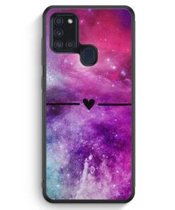 Samsung Galaxy A21s Silikon Hülle - Galaxy Universe Nebula Herz BK