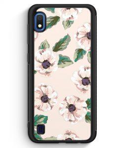 Samsung Galaxy A10 Silikon Hülle - Rosa Blumen Muster