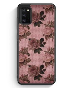 Samsung Galaxy A41 Silikon Hülle - Rosen Muster Vintage