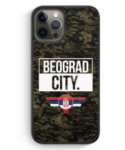 iPhone 12 Pro Max Silikon Hülle - Beograd City Camouflage Serbien