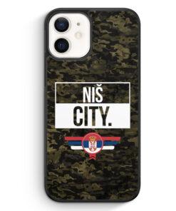 iPhone 12 Silikon Hülle - Nis City Camouflage Serbien