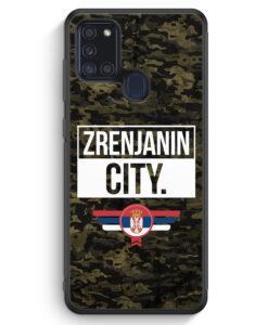 Samsung Galaxy A21s Silikon Hülle - Zrenjanin City Camouflage Serbien