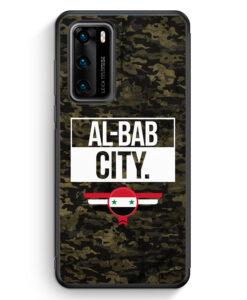 Huawei P40 Silikon Hülle - Al Bab City Camouflage Syrien