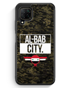 Huawei P40 lite Silikon Hülle - Al Bab City Camouflage Syrien