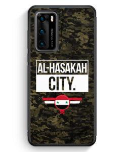 Huawei P40 Silikon Hülle - Al Hasakah City Camouflage Syrien