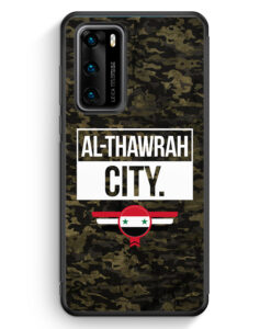 Huawei P40 Silikon Hülle - Al Thawrah City Camouflage Syrien