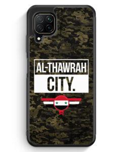 Huawei P40 lite Silikon Hülle - Al Thawrah City Camouflage Syrien