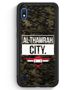 Samsung Galaxy A10 Silikon Hülle - Al Thawrah City Camouflage Syrien