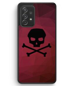 Totenkopf Skull Rot-Schwarz - Silikon Hülle für Samsung Galaxy A52