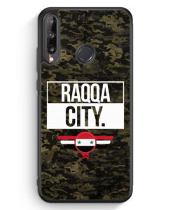 Huawei P40 lite E Silikon Hülle - Raqqa City Camouflage Syrien
