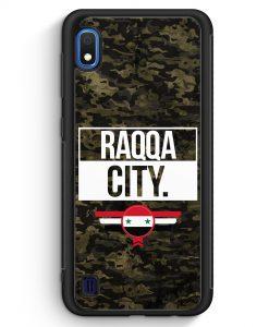 Samsung Galaxy A10 Silikon Hülle - Raqqa City Camouflage Syrien