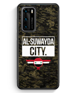 Huawei P40 Silikon Hülle - Al Suwayda City Camouflage Syrien