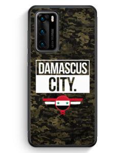 Huawei P40 Silikon Hülle - Damascus City Camouflage Syrien