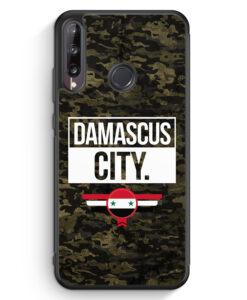 Huawei P40 lite E Silikon Hülle - Damascus City Camouflage Syrien