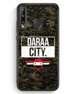 Huawei P40 lite E Silikon Hülle - Daraa City Camouflage Syrien
