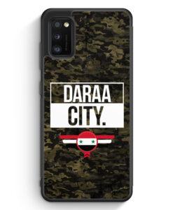Samsung Galaxy A41 Silikon Hülle - Daraa City Camouflage Syrien