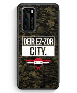 Huawei P40 Silikon Hülle - Deir Ez Zor City Camouflage Syrien