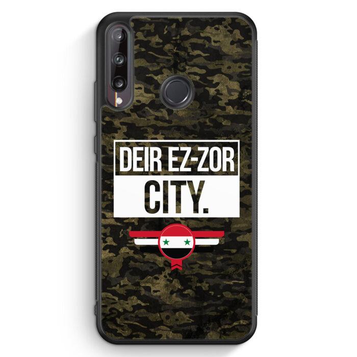 Huawei P40 lite E Silikon Hülle - Deir Ez Zor City Camouflage Syrien