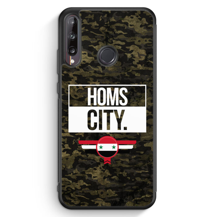 Huawei P40 lite E Silikon Hülle - Homs City Camouflage Syrien