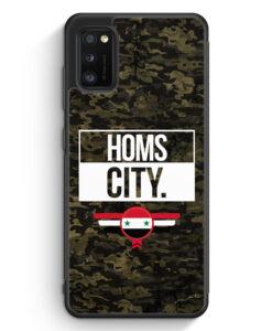 Samsung Galaxy A41 Silikon Hülle - Homs City Camouflage Syrien