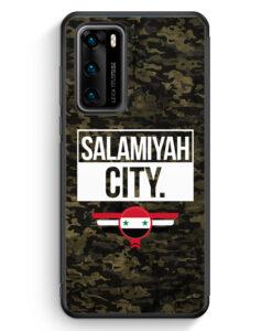 Huawei P40 Silikon Hülle - Salamiyah City Camouflage Syrien
