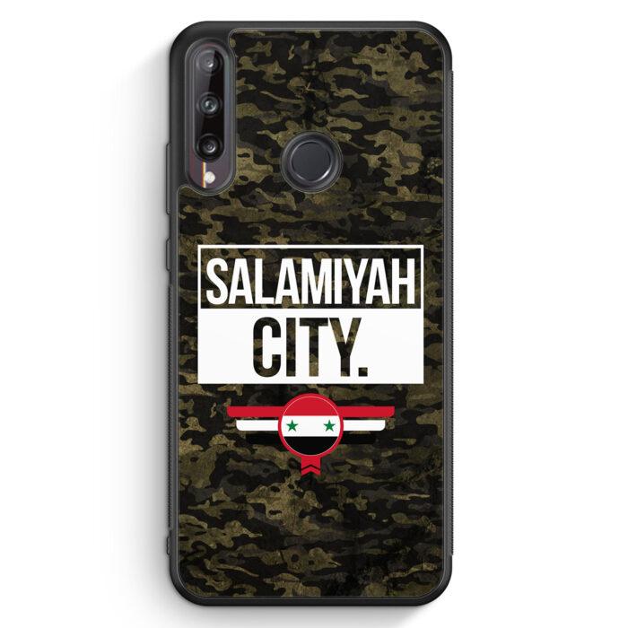 Huawei P40 lite E Silikon Hülle - Salamiyah City Camouflage Syrien