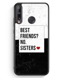 Huawei P40 lite E Silikon Hülle - Best Friends? Sisters.