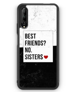 Huawei P Smart Pro Silikon Hülle - Best Friends? Sisters.
