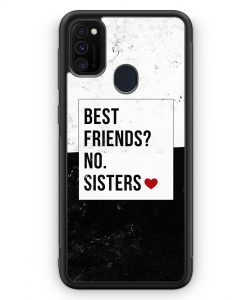 Samsung Galaxy M30s Silikon Hülle - Best Friends? Sisters.