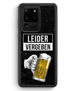 Samsung Galaxy S20 Ultra Silikon Hülle - Leider Vergeben Bier