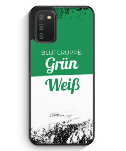 Blutgruppe Grün Weiß - Silikon Hülle für Samsung Galaxy A02s