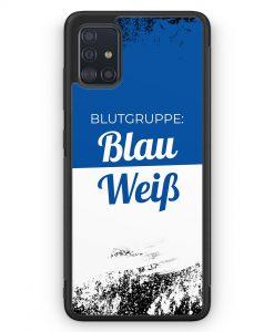 Samsung Galaxy A51 Silikon Hülle - Blutgruppe Blau Weiß