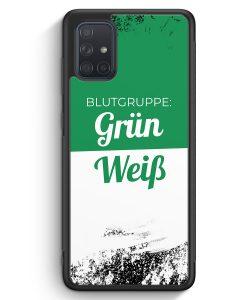 Samsung Galaxy A71 Silikon Hülle - Blutgruppe Grün Weiß