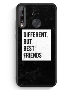 Huawei P40 lite E Silikon Hülle - Different But Best Friends
