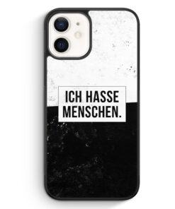 iPhone 12 mini Silikon Hülle - Ich hasse Menschen