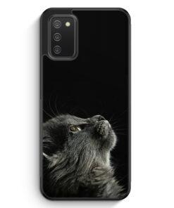 Katze Himmel - Silikon Hülle für Samsung Galaxy A02s