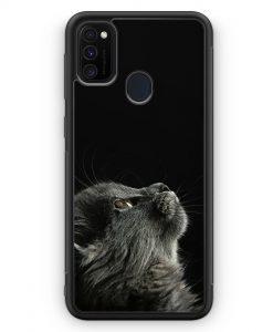 Samsung Galaxy M30s Silikon Hülle - Katze Himmel