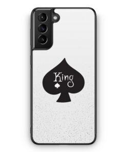 Samsung Galaxy S21 Silikon Hülle - King Spielkarten #01