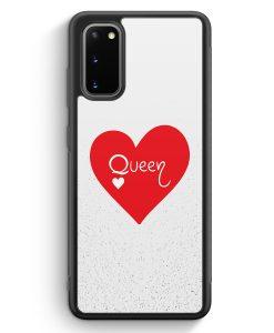 Samsung Galaxy S20 Silikon Hülle - Queen Spielkarten #02