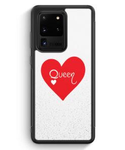 Samsung Galaxy S20 Ultra Silikon Hülle - Queen Spielkarten #02