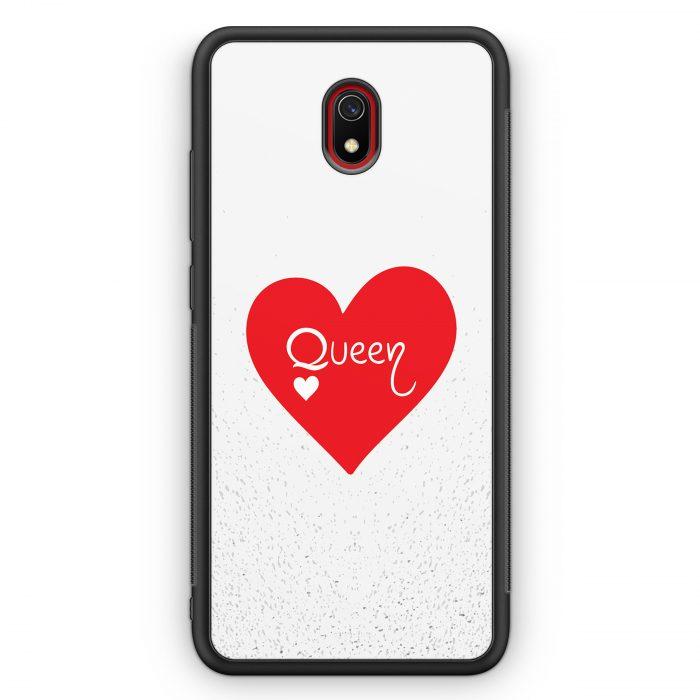 Xiaomi Redmi 8A Silikon Hülle - Queen Spielkarten #02