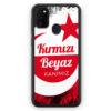 Samsung Galaxy M21 Silikon Hülle - Kirmizi Beyaz Kanimiz Türkei Türkiye