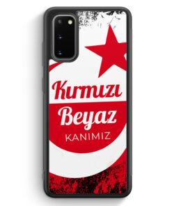 Samsung Galaxy S20 Silikon Hülle - Kirmizi Beyaz Kanimiz Türkei Türkiye